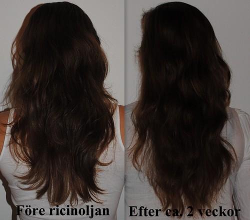 hur använder man ricinolja till håret